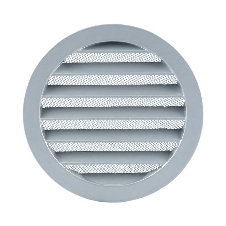 Rundes Kiemenblech aus Aluminium mit Insektenschutz