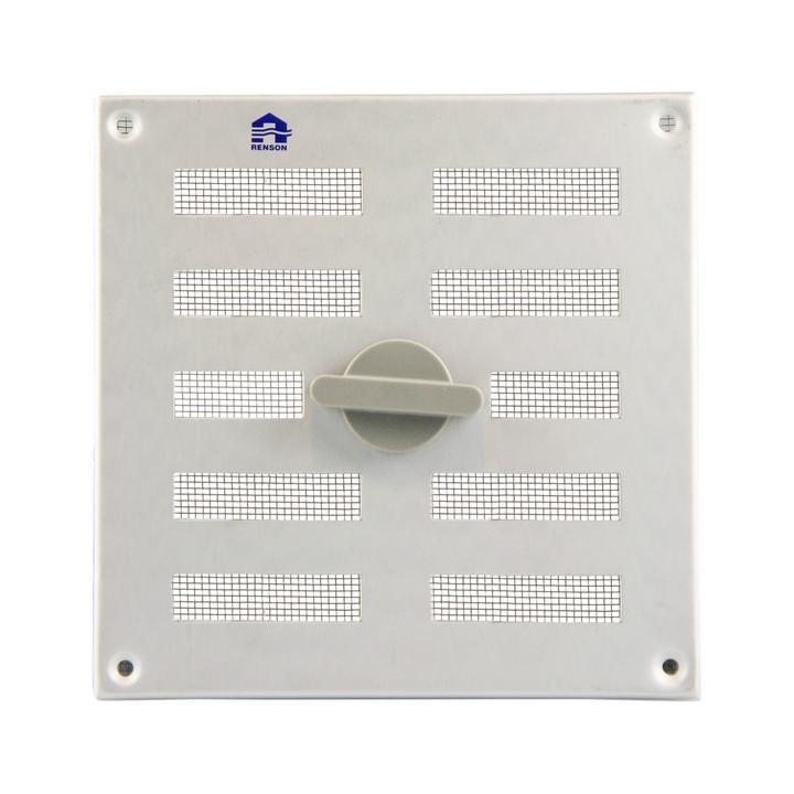 Regelbares flaches Innenlüftungsgitter aus Aluminium mit Design-Drehknopf